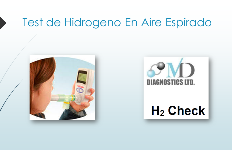 Test de hidrogeno en aire espirado